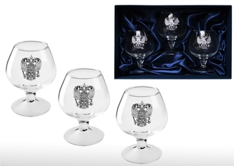 Набор бокалов для коньяка Русь